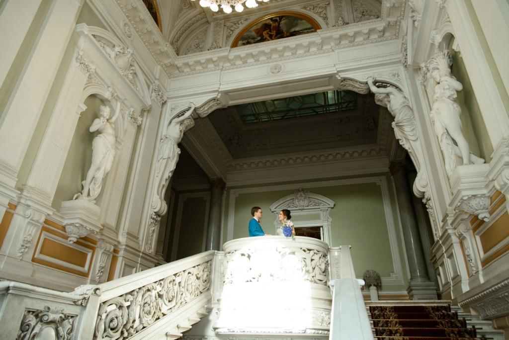 Свадебная фотосессия в Дворце бракосочетания №1