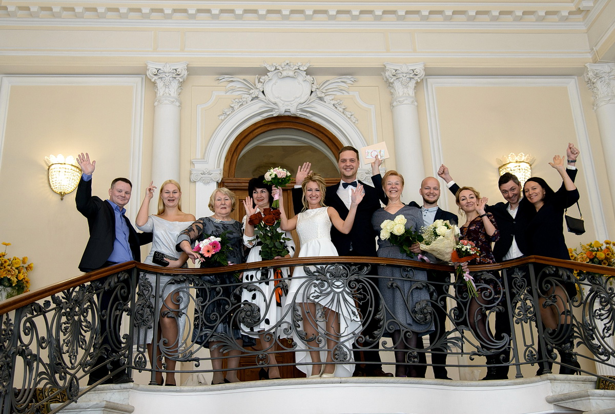Свадебная фотосессия в Дворце бракосочетания №2