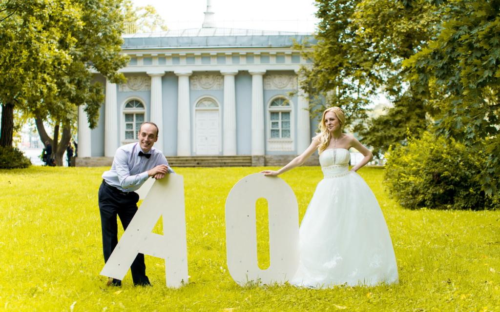 свадебная фотосессия жениха и невесты в парке спб
